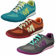 Womens Civet Merrell Ladies Lace Up Casual Lightweight Trainers Shoes J55468