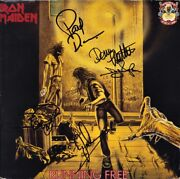 Iron Maiden Running Free Fully Signed Vinyl - Paul Di'anno Dave Murray Autograph
