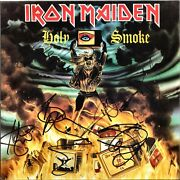 Iron Maiden Holy Smoke Fully Signed 12 Vinyl Bruce Dickinson Trooper Autograph