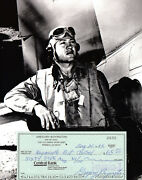 Pappy Boyington Wwii Ace 24 V Black Sheep Medal Of Honor Jsa Signed Autographed