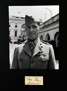 General Joe Foss Wwii Ace Pilot 26 Victories, Medal Of Honor Signed Cut Matted