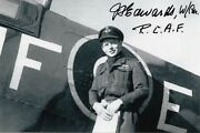 Canadian 6th Highest Ace 16.50 Vic. James Edwards North Africa Signed Photo Rcaf