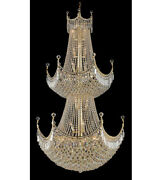 Palace Crown A 36 Light Foyer Crystal Chandelier Ceiling Light Gold 36x66