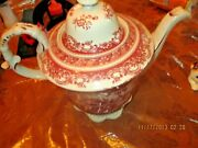 Burton And Burton Red Toile Teapot Made In China Preused Great Cond.