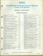 Omc Outboard Marine 2 Thru V-6 Models 1984 Mid-section Service Manual 394607-5