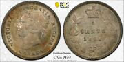 1881h Canada Five Cents Silver - Pcgs Ms63 - Nice Original Toning