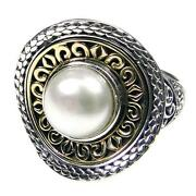 Gerochristo 2718 Solid Gold Sterling Silver And Pearl Medieval-byzantine Ring