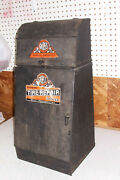 Old Gross 144 Car Auto Tire Flat Repair Kit Center Gas Station Cabinet Ad Sign