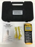 General Dt8856 Digital Thermocouple Thermometer Black And Yellow Unit Near Mint