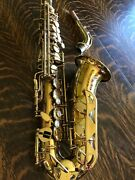 Conn Saxaphone Excellent Condition Mother Of Pearl Keys Engraved W/case