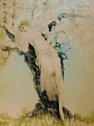 Louis Icart 1888-1950 New York And039beauty In Springand039 Aquatint Etching Signed