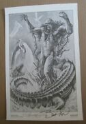 1 Of 1 Swamp Thing Portfolio Print Signed By Bernie Wrightson And Steve Bissette