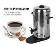 Electric 6l Catering Hot Water Boiler Commercial Coffee Tea Urn Stainless Steel