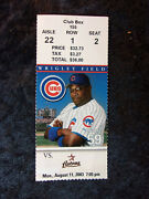 August 11, 2003 Cubs Vs Astros Ticket Stub Kerry Wood 1000th Strikeout K T50