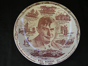Vintage Vernon Kilns Will Rogers Collectable Plate, 1935