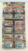 Very Rare Store Display For Chiqui Galaxias By Gisual 12 Diecast Robots 1980's