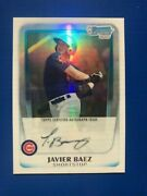 2011 Bowman Chrome Javier Baez Auto Rc Refractor 1/1 One Of One Rare Black Ink