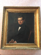 Rare 19th Century Portrait Doctor Scientist With Apothecary Jars Signed
