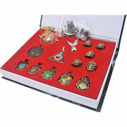 New Harry Potter Rings Necklace Decorate Cosplay Game 14pcs Set Xmas Gift