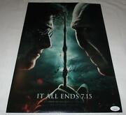 Daniel Radcliffe Signed Harry Potter And The Deathly Hallows 12x18 Poster Jsa