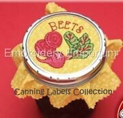Canning Labels Collection - Machine Embroidery Designs On Cd Or Usb