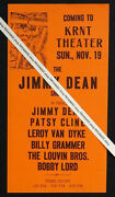 1961 Original Patsy Cline Vintage Jimmy Dean Country Music Concert Flyer Poster