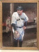 Babe Ruth Oil Painting Titled George Herman Ruth By Winslow