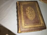 1870and039s Leather Antique Devotional Family Bible By Alexander Fletcher