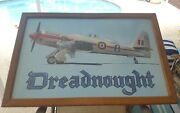 Dreadnought Royal Navy Military World Record Race Plane Autographed 1987 Print.