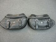 Harley Davidson Oem Heritage Classic Leather Saddle Bags By Milsco