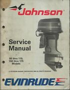 Evinrude Johnson Outboards 88-110 150-175 Models 1989 Service Manual P/n 507757