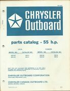 Chrysler Outboard 55 Hp Model 558hh 558bh 559hh 559bh Parts Catalog Ob2283