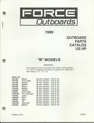 Us Marine Power Force Outboards 125 Hp B Models 1989 Parts Catalog Ob4281