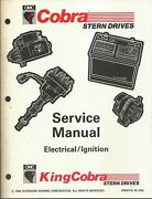 Omc Outboard Marine Cobra 1995 Electrical/ignition Service Manual P/n 503169