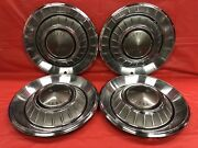 Vintage Set Of 4 1968 Chrysler 14 Hubcaps Newport New Yorker Good Condition