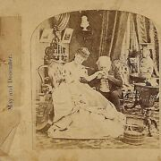 Old Man, Young Woman Romance - And Box Of Jewels Stereoview