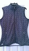 Nwt Ladies Adidas Black White And Gray Print Soft Fleece Golf Vest S And L 85