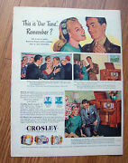 1945 Crosley Phonograph Ad  This Is Our Tune Remember