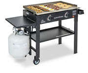 Outdoor Propane Griddle Portable Grill 2 Burner 28x16 Cooking Station Camping