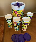 Tupperware Pitcher And Tumblers Set