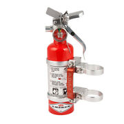 Axia Alloys Quick Release Fire Extinguisher And Clamps - 1.4 Lb Halotron Red
