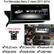 Android 10 Car Gps Radio Stereo 4+64gb Ram For Mercedes Benz C Class 2011-2014
