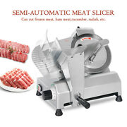 Semi-auto Commercial Electric Food Meat Cheese Slicer 10 Blade Stainless Steel