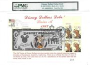 5 Disney Dollars 1987 First Day Stamp Cancel Debut Card Lucky Money Value 3000