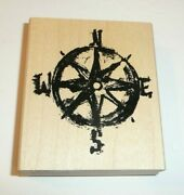 Nautical Map Compass Rubber Stamp Art Impressions P2177 North South East West