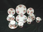 Crownford Queenand039s Fine Bone China Luncheon Plates Cups And Saucers Total 15 Pcs.