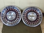 1962 Cadillac Hub Caps 15 Set Of 2 Caddy Wheel Covers Brown 62 Hubcaps