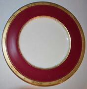Antique Royal Worcester 40 Piece Bone China From England Diana Red And Gold
