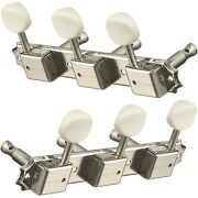 New Gotoh 3x3 On A Plate Vintage Deluxe Style Tuning Keys For Gibson - Nickel
