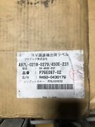 Fanuc Rv Reducer A97l-0218-0279/450e-231 Freight Shipping Available